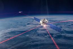 Laser communication for satellite constellation